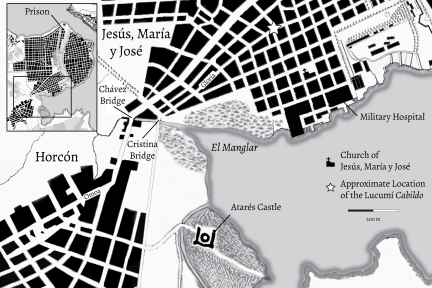 Key Locations of the Lucumí Disturbance in Havana, c. 1835