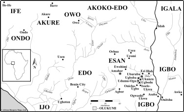Olukumi Towns and Their Neighbours